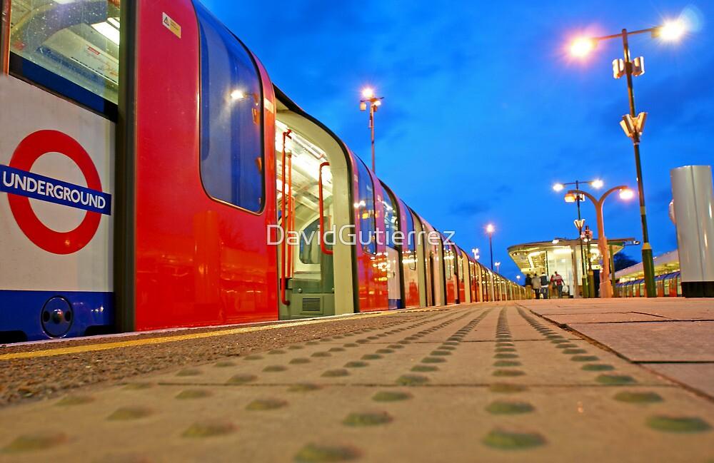 London Underground Train in the Blue Hour by DavidGutierrez
