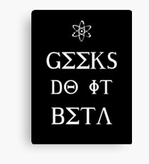 Geeks Do It Beta Canvas Print