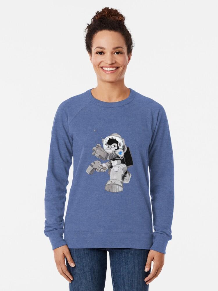 Alternate view of Ookie the Space Ape Lightweight Sweatshirt