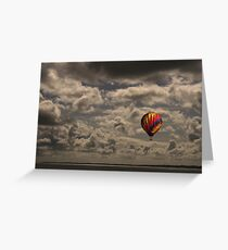 Balloons over Carrikfergus Castle Greeting Card