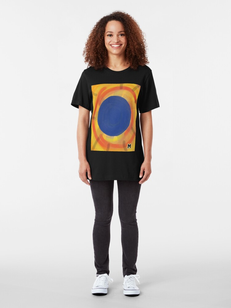 Alternate view of Abstract Painting - Blue Spot Slim Fit T-Shirt