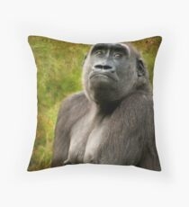 """""""I can't find my bra!"""" Throw Pillow"""