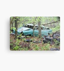 April Old Motor Car Metal Print