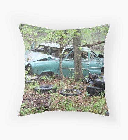 April Old Motor Car Throw Pillow