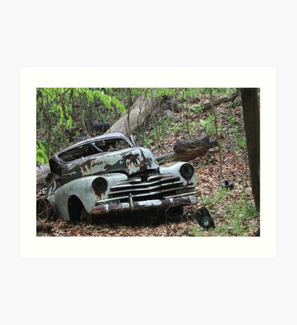 May Old Motor Car Art Print