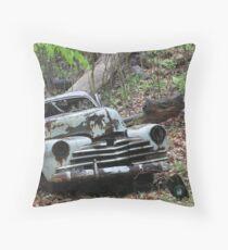 May Old Motor Car Throw Pillow