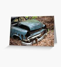 June Old Motor Car Greeting Card