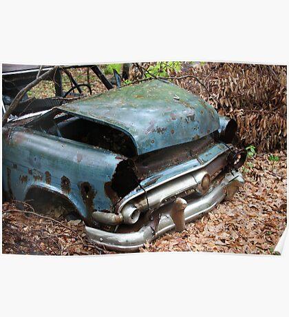 June Old Motor Car Poster
