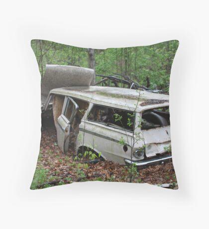 July Old Motor Car Throw Pillow
