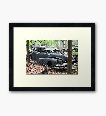 August Old Motor Car Framed Print