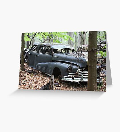 August Old Motor Car Greeting Card