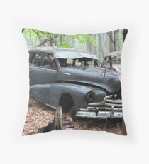 August Old Motor Car Throw Pillow
