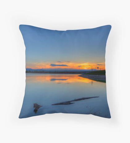 Rocky Mountain Sunset Series - A Sky On Fire Throw Pillow