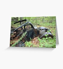 September Old Motor Car Greeting Card