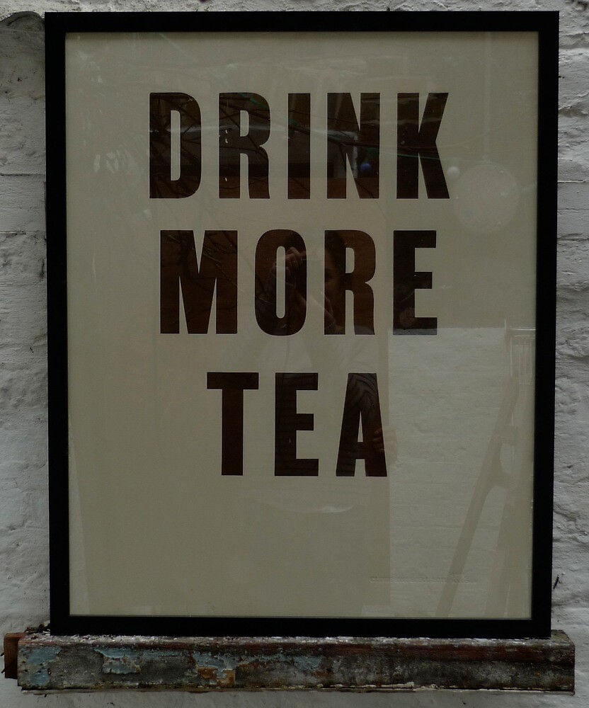 """Letterpress poster """"DRINK MORE TEA"""" 56 x 70cm by clerkinkwell"""