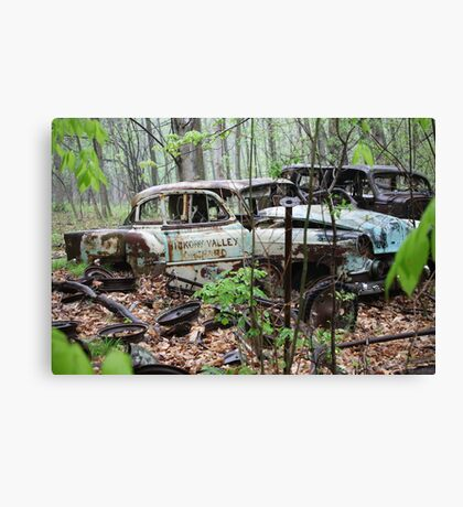 October Old Motor Car Canvas Print