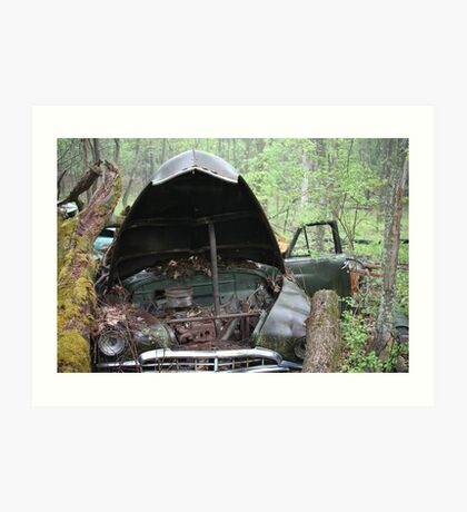 November Old Motor Car Art Print