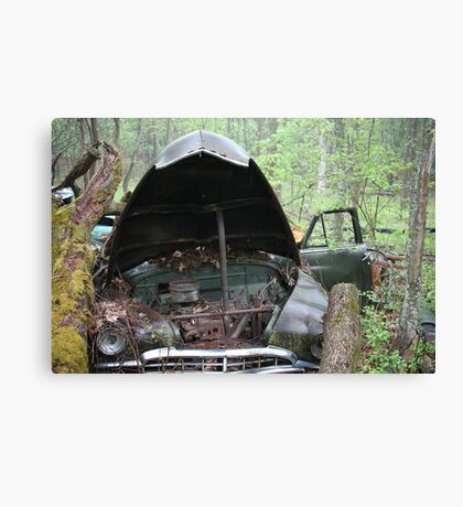 November Old Motor Car Canvas Print