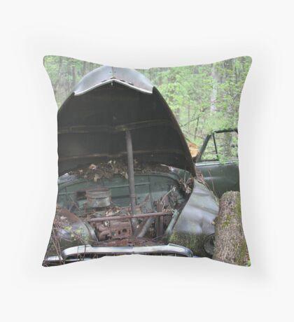 November Old Motor Car Throw Pillow