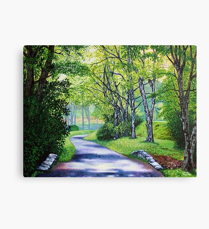 'Summer's Languid Path' Canvas Print