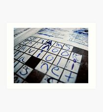 """""""Q&A"""" - Crossword puzzle  Art Print"""