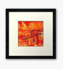 Dendritic Echoes Framed Print