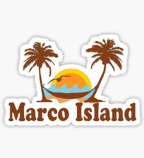 Marco Island - Florida. Sticker