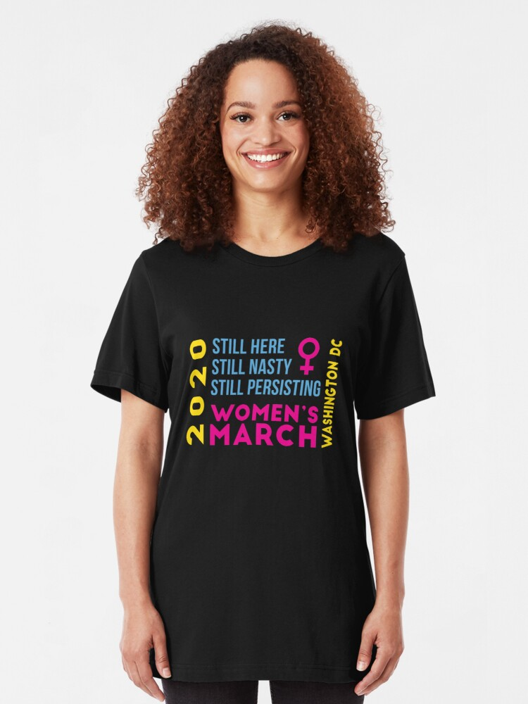 Alternate view of Women's March 2020 Washington DC Slim Fit T-Shirt