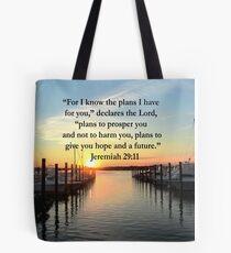 BEAUTIFUL JEREMIAH 29:11 SUNSET PHOTO Tote Bag