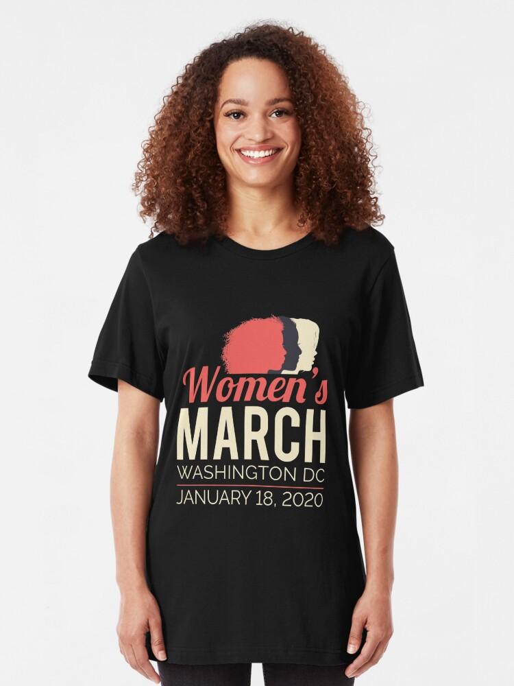 Alternate view of Women's March 2020 Washington DC Slim Fit T-Shirt
