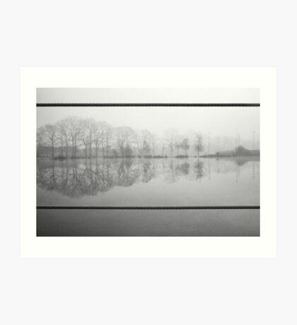 Foggy morning 1 (Reeshofpark series) Art Print