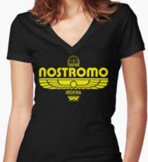 Nostromo. Women's Fitted V-Neck T-Shirt