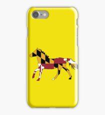 Maryland Flag Horse iPhone Case/Skin