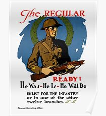 Enlist For The Infantry -- WWI Poster