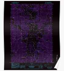 USGS Topo Map Oregon Kings Valley 280408 1984 24000 Inverted Poster