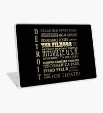 Detroit Michigan Famous Landmarks Laptop Skin