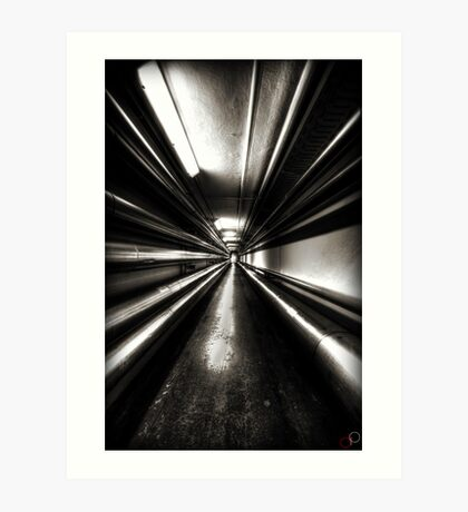 Brewery Tunnel Art Print