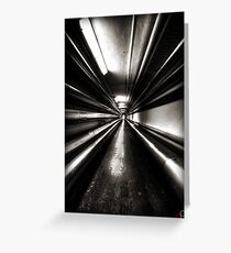 Brewery Tunnel Greeting Card