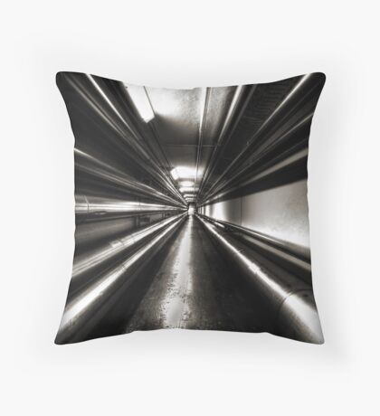 Brewery Tunnel Throw Pillow