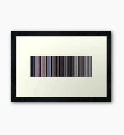 Moviebarcode: Superman (1978) [Simplified Colors] Framed Print
