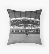 Time, Movement, Motion - Southern Cross Train Station Throw Pillow