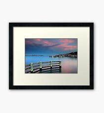 Sunset on the Docks Framed Print