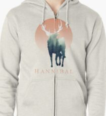 Forest Ravenstag Zipped Hoodie