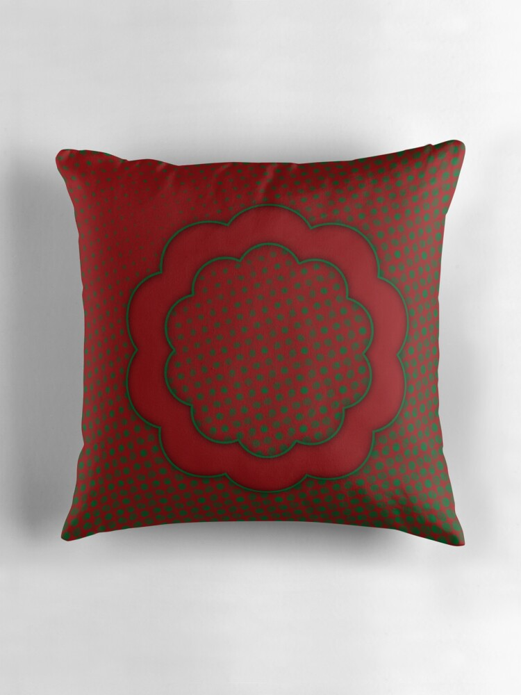 Red Green Throw Pillow :