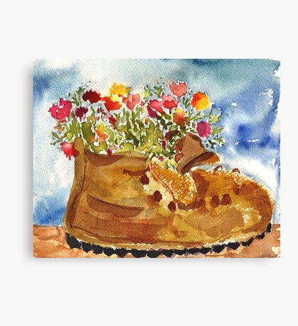 Retired Hiking Boot Canvas Print
