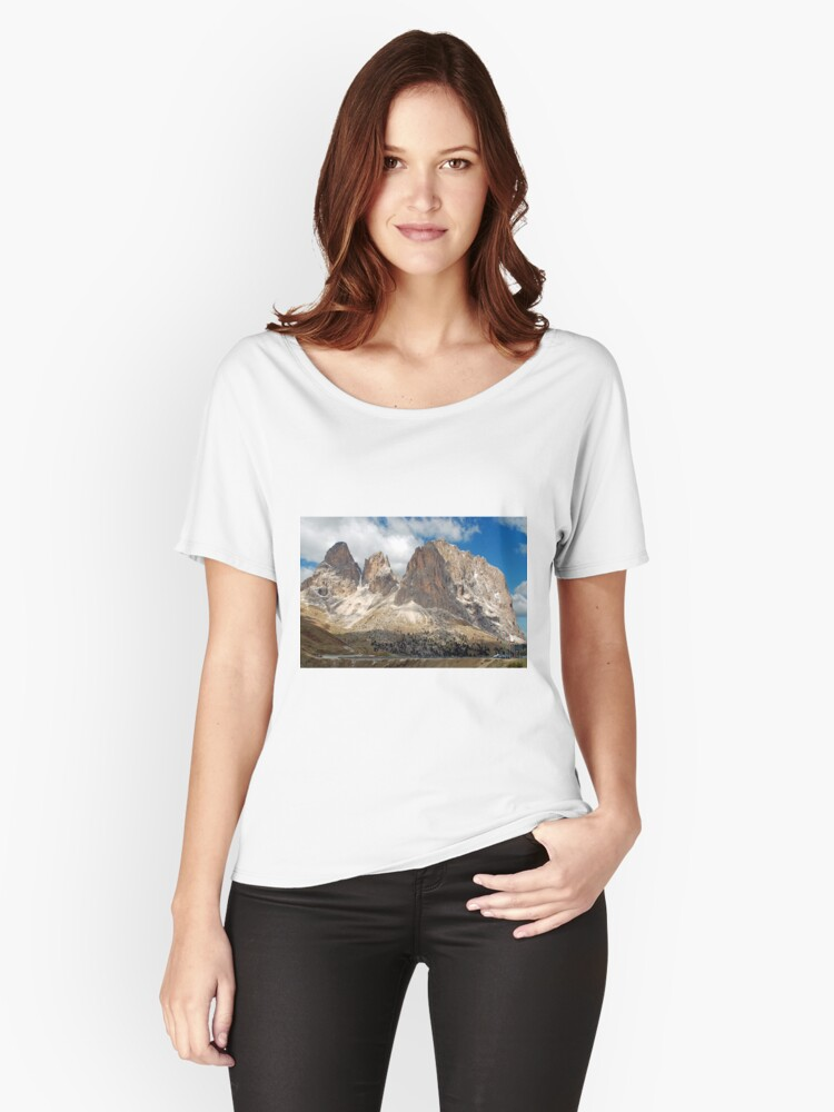 On top of the Sella pass Women's Relaxed Fit T-Shirt Front