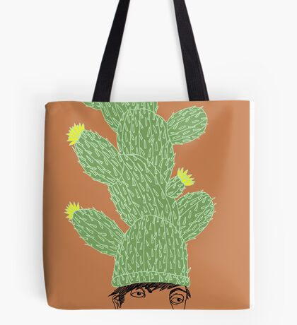 Cactus Hat Hipster Street Wear Tote Bag