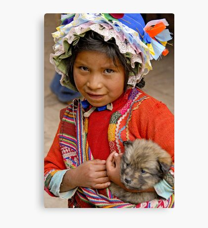 Peruvian girl Canvas Print