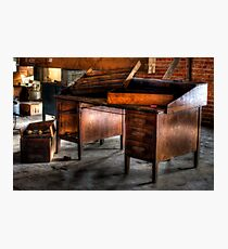 Old Desk In The Attic Photographic Print