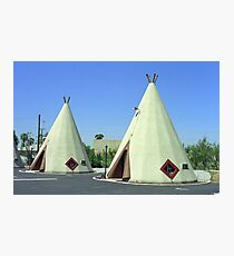 Route 66 - Wigwam Motel Photographic Print